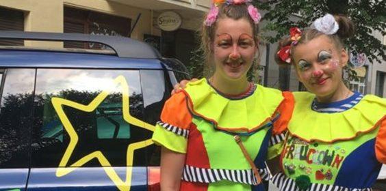Kinderschminken Zauberer Kindergeburtstag Clown mieten in Sachsen und Thüringen